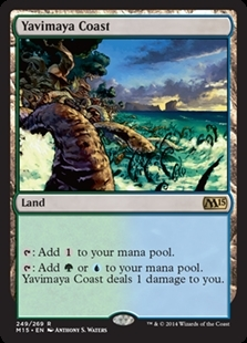 Magic the Gathering Magic 2015 Core Set Single Yavimaya Coast NEAR MINT (NM)
