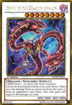 Yu-Gi-Oh Premium Gold 1st Ed. Single Beelze of the Diabolic Dragons Gold Secret - NEAR MINT