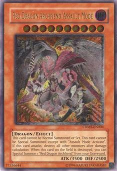 Yu-Gi-Oh Crimson Crisis 1st Ed. Single Red Dragon Archfiend/Assault Mode Ultimate Rare