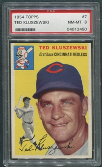 1954 Topps Baseball #7 Ted Kluszewski PSA 8 (NM-MT) *2450