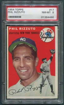 1954 Topps Baseball #17 Phil Rizzuto PSA 8 (NM-MT) *4496