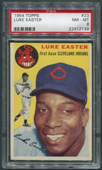 1954 Topps Baseball #23 Luke Easter PSA 8 (NM-MT) *2139
