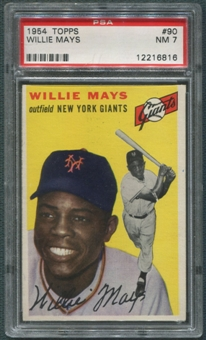 1954 Topps Baseball #90 Willie Mays PSA 7 (NM-MT) *6816