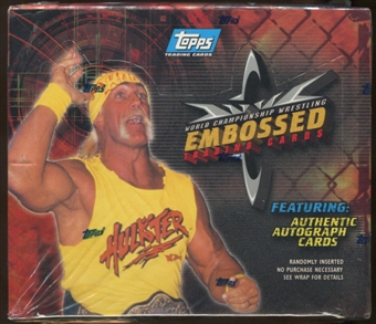 1999 Topps WCW Embossed Wrestling Box
