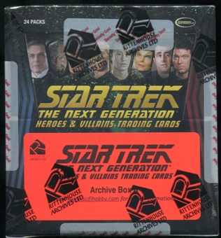 Star Trek: The Next Generation Heroes & Villains Trading Cards Archive Box (Rittenhouse 2013)