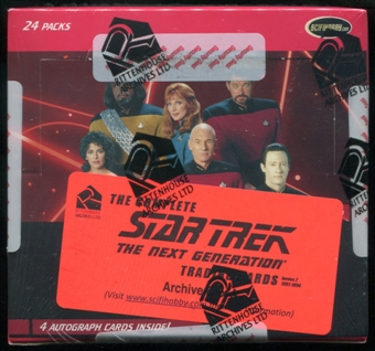 Star Trek The Next Generation Series 2 Trading Cards Archive Box (Rittenhouse 2012)