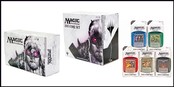 COMBO DEAL - Magic the Gathering 2015 Core Set (Booster Box, Fat Pack, Set of 5 Intros)