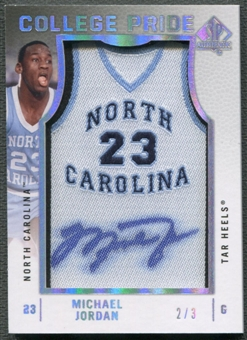 2012/13 SP Authentic #JO Michael Jordan College Pride Gold Auto #2/3