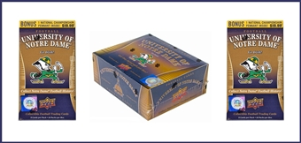 COMBO DEAL - 2013 Upper Deck University of Notre Dame Boxes (1 Hobby Box, 2x Blaster)