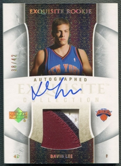 2005/06 Exquisite Collection #69AP David Lee Rookie Parallel Patch Auto #38/42