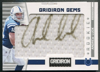 2012 Gridiron #322 Andrew Luck Rookie Jersey Auto #044/199