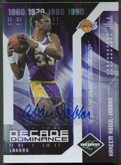 2009/10 Limited #15 Kareem Abdul-Jabbar Decade Dominance Signatures Auto #03/10
