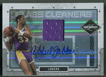 2009/10 Limited #1 Kareem Abdul-Jabbar Glass Cleaners Materials Signatures Jersey Auto #01/10