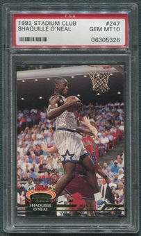 1992/93 Stadium Club #247 Shaquille O'Neal Rookie PSA 10 (GEM MT) *5326
