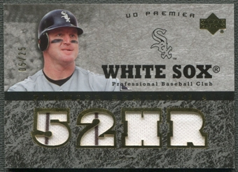 2007 Upper Deck Premier #JT Jim Thome Premier Remnants Gold Jersey #05/25