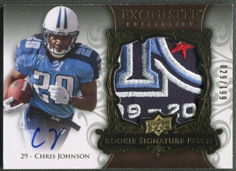 2008 Exquisite Collection #156 Chris Johnson Rookie Patch Auto #029/199