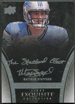 2009 Exquisite Collection #IMA Matthew Stafford Inscriptions Rookie Auto #05/15