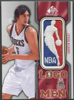 2009/10 SP Game Used #LOGOAB Andrew Bogut Logo Men Patch #6/7