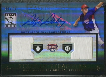2010 Topps Tribute #SS Stephen Strasburg Blue Rookie Dual Base Auto #66/75