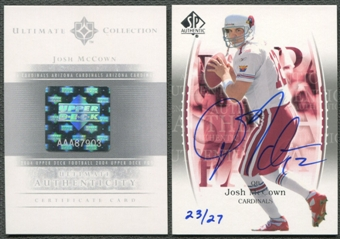 2004 Ultimate Collection #BBJO3 Josh McCown Buy Back 03SPA Auto #23/27