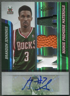 2009/10 Absolute Memorabilia #142 Brandon Jennings Rookie Jersey Ball Auto #219/499