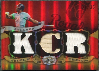 2009 Topps Triple Threads #106 Bo Jackson Jersey Bat #31/36