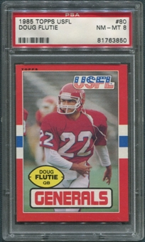 1985 Topps USFL Football #80 Doug Flutie Rookie PSA 8 (NM-MT) *3850