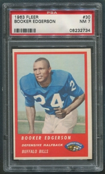 1963 Fleer Football #30 Booker Edgerson Rookie PSA 7 (NM) *2734