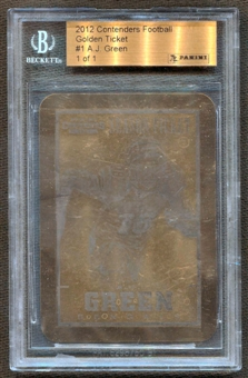 2012 Panini Contenders #1 A.J. Green Golden Tickets #1/1