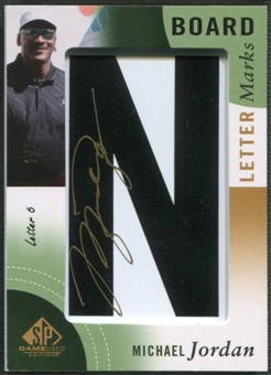 "2014 SP Game Used #LLMJ6 Michael Jordan Leader Board Letter Marks ""N"" Auto #1/5"