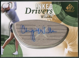 2014 SP Game Used #IDCW Cheyenne Woods Inked Drivers Auto