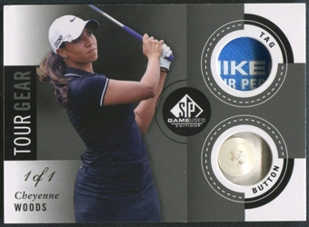 2014 SP Game Used #TGCW Cheyenne Woods Tour Gear Black Tag Button #1/1