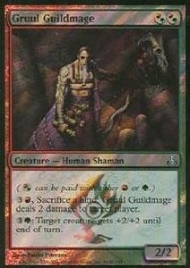 Magic the Gathering Guildpact Single Gruul Guildmage Foil (Prerelease)