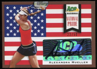 2013 Leaf Ace Authentic Grand Slam National Pride Autographs Brown #NPAM2 Alexandra Mueller Autograph 22/50