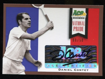2013 Leaf Ace Authentic Grand Slam National Pride Autographs Brown #NPDC2 Daniel Contet Autograph 8/50
