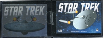 2014 Rittenhouse Star Trek TOS Portfolio Prints Case Toppers #CT1 U.S.S. Enterprise Portrait /400