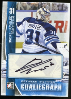2013-14 In the Game Between the Pipes Autographs #AOP Ondrej Pavelec Autograph