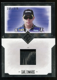 2014 Press Pass Total Memorabilia Single Swatch Silver #TMCE Carl Edwards Tire 165/275
