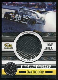 2014 Press Pass Burning Rubber Chase Edition Silver #BRCJJ2 Jimmie Johnson 22/99