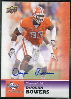 2011 Upper Deck Sweet Spot Autographs #9 Da'Quan Bowers RC