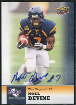 2011 Upper Deck Sweet Spot Autographs #36 Noel Devine RC