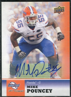 2011 Upper Deck Sweet Spot Autographs #51 Mike Pouncey RC