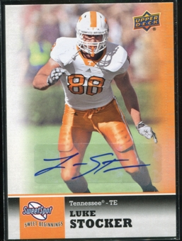 2011 Upper Deck Sweet Spot Autographs #63 Luke Stocker RC