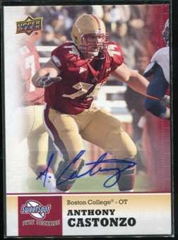 2011 Upper Deck Sweet Spot Autographs #65 Anthony Castonzo RC
