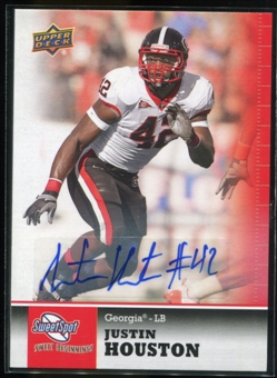 2011 Upper Deck Sweet Spot Autographs #87 Justin Houston RC