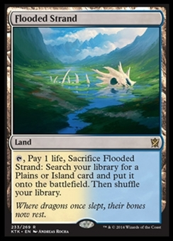 Magic the Gathering Khans of Tarkir Single Flooded Strand NEAR MINT (NM)