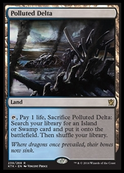 Magic the Gathering Khans of Tarkir Single Polluted Delta NEAR MINT (NM)