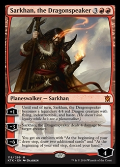 Magic the Gathering Khans of Tarkir Single Sarkhan, the Dragonspeaker Foil NEAR MINT (NM)