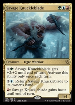Magic the Gathering Khans of Tarkir Single Savage Knuckleblade Foil NEAR MINT (NM)