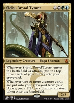 Magic the Gathering Khans of Tarkir Single Sidisi, Brood Tyrant Foil NEAR MINT (NM)